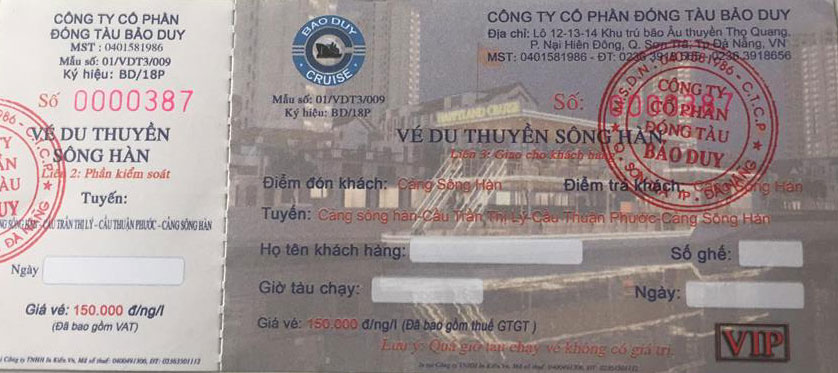 Ve du thuyen Song Han Da Nang
